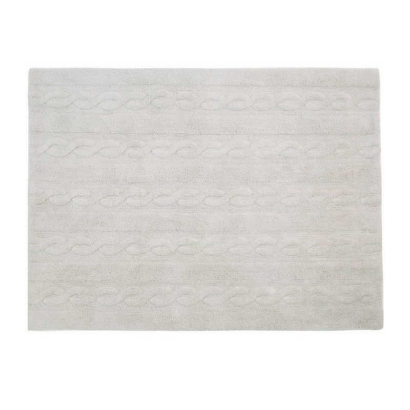 Lorena Canals Washable Rugs Braids Pearl Grey