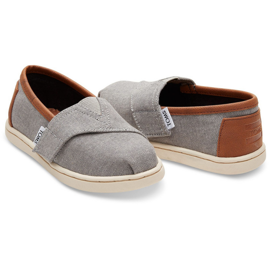 TOMS Shoes Grey Chambray