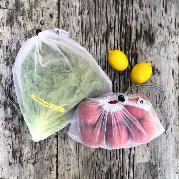 Big Bee Little Bee Reusable Produce Sacks (6 Pack)