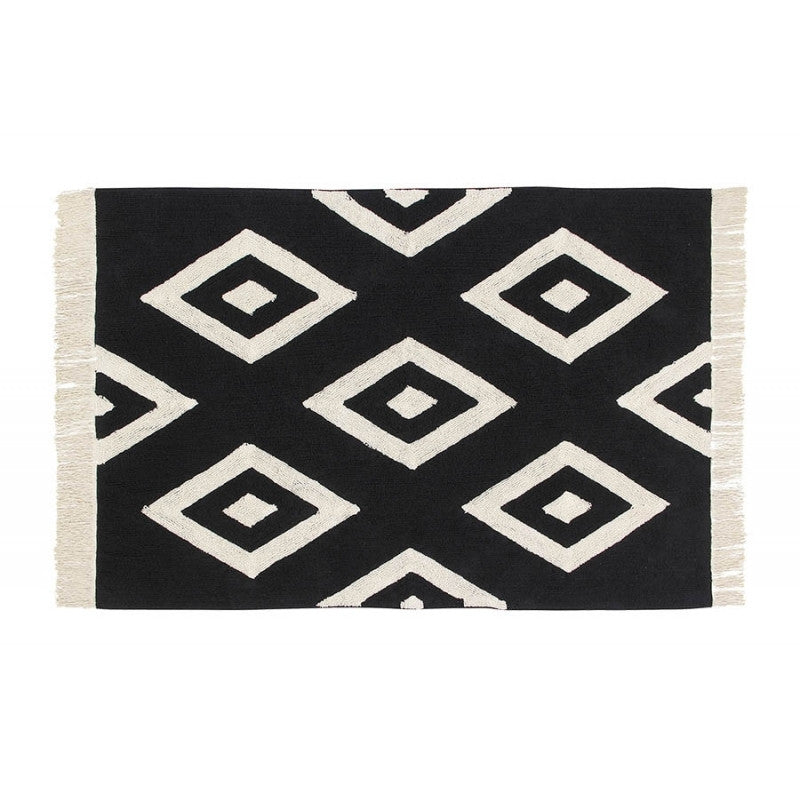 Lorena Canals Washable Rugs B&W Diamonds