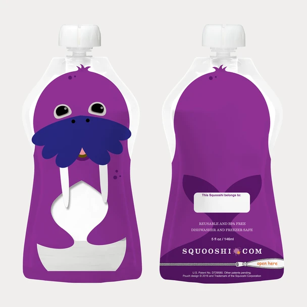 Squooshi 5 oz. Squooshi Reusable Food Pouch 12 Pack