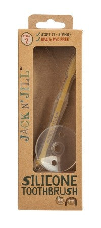 Jack N' Jill Silicone Baby Toothbrush - Stage 2 (1-3 years)