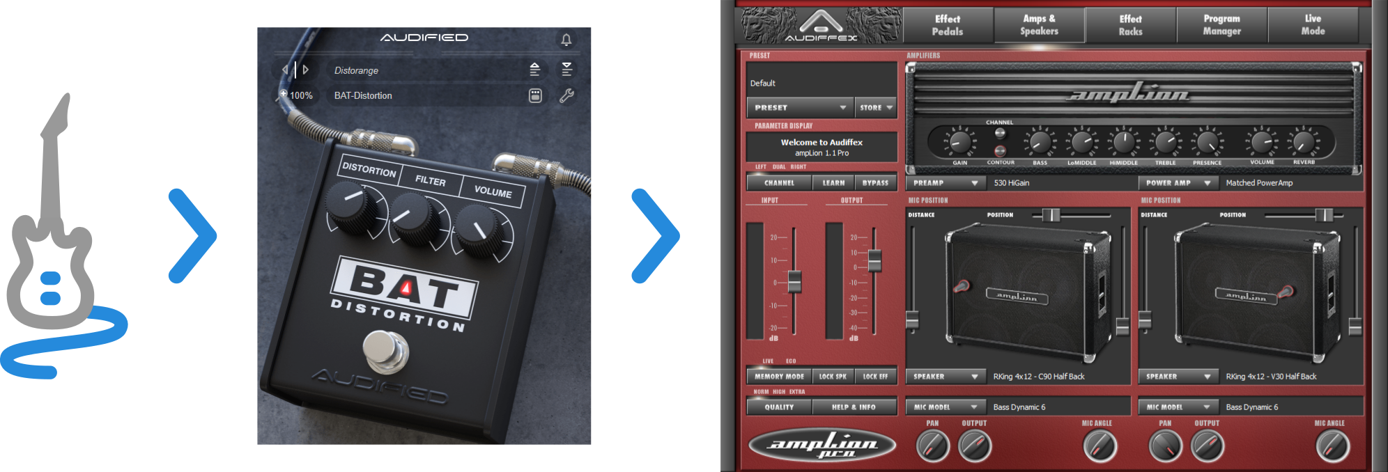 MultiDrive Pedal Pro and amplLion Pro
