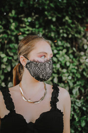 Eyelash Lace Mask (Black)