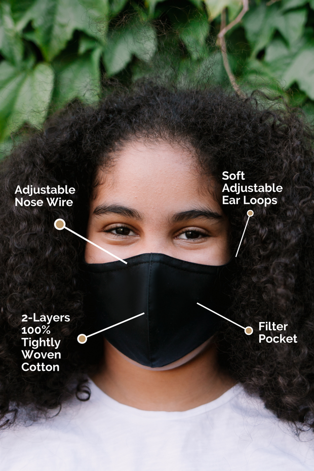 100% Cotton Kids Face Mask (Youth)