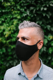 Reusable Black Large Adult Face Mask