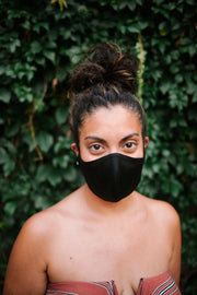 Black reusable Adult face mask