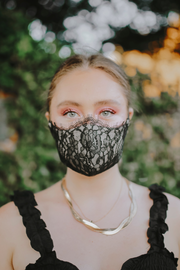 Cloth Black Lace Face Mask