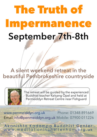 Buddhist Silent Guided Weekend Retreat 7th-9th September 2018