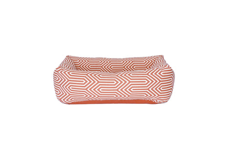 Bolster Bed, Coral geometric