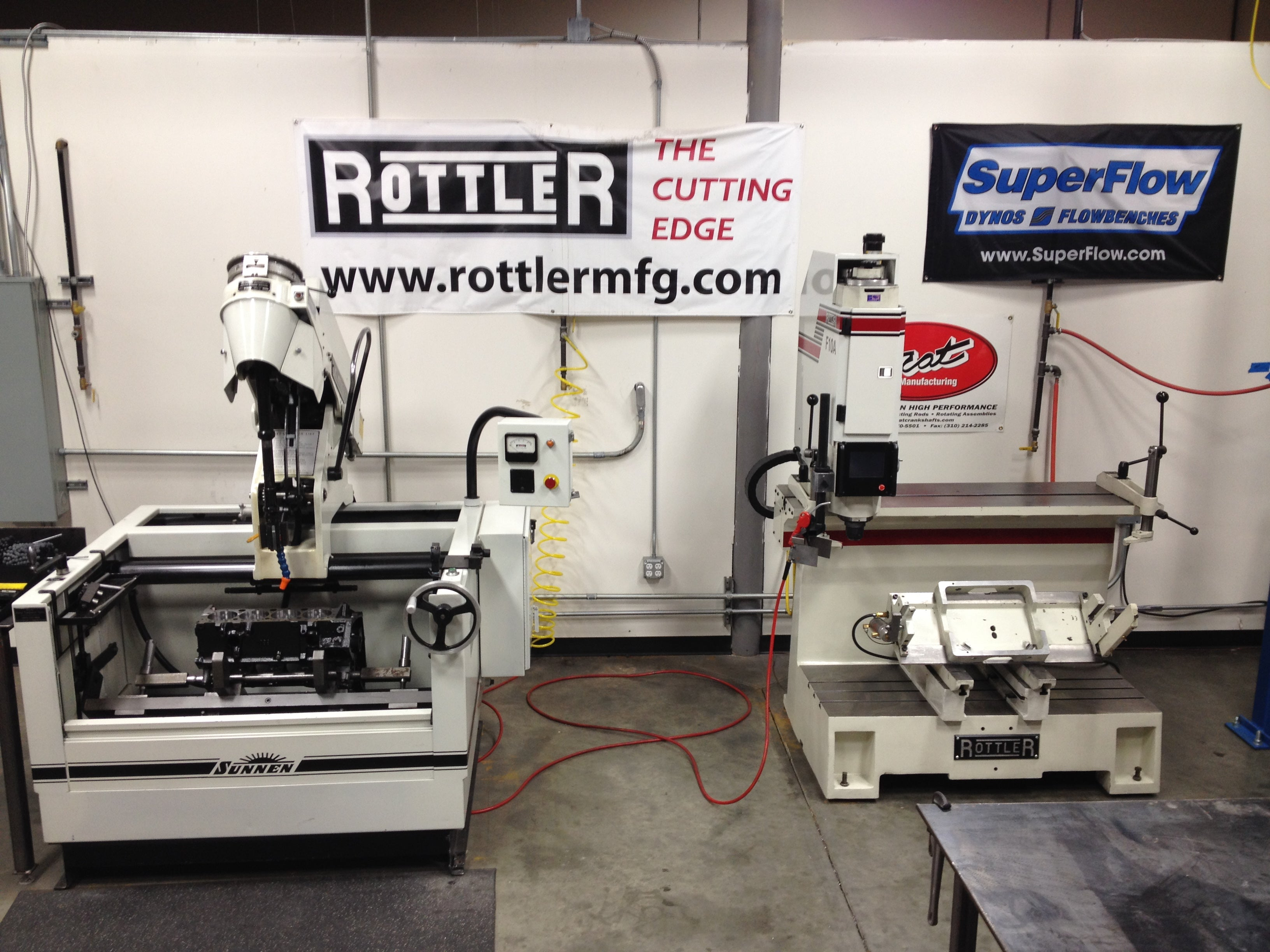 Rottler has been a company putting automotive engine rebuilding at it core business. This F10A CNC/ allows boring and sleeving with automatic bore centering, one man continuous operation.<br> Sunnen adds to the mix with TCB developed cylinder honing methods based on the intended build.