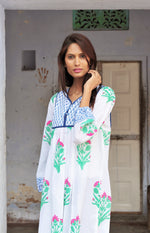 SZ Kitty Dress in Hot Pink & Mint Palladio Flower Print