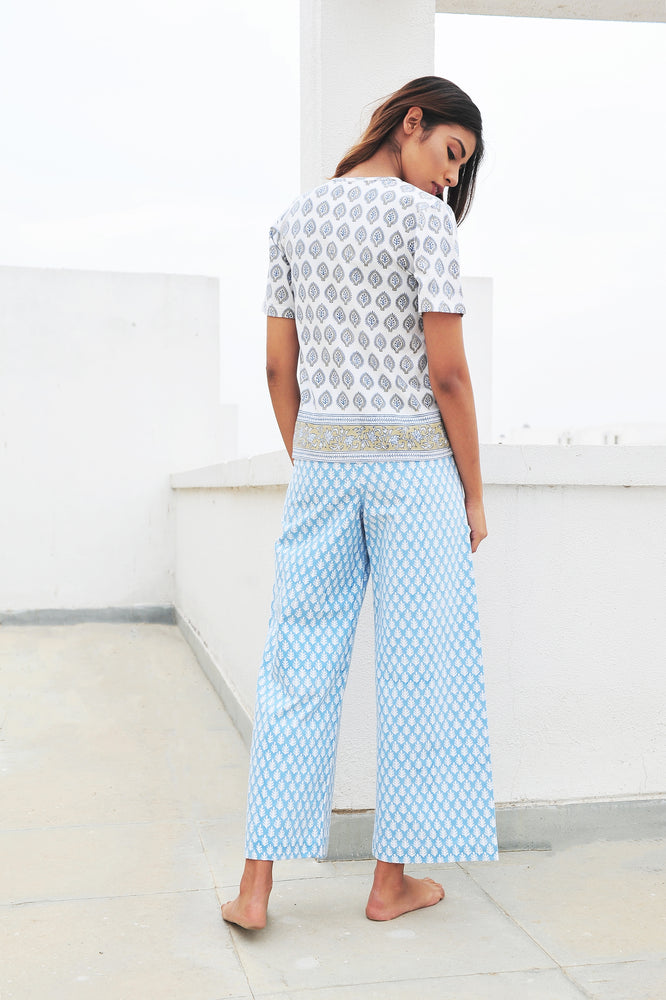 SZ Disco Pants in Pastel Patti Blue