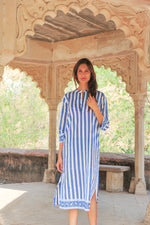 SZ Isle Frock in Navy Stripe