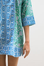 Short Kurta Mint Padra