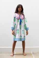 Summer Kitty Dress in Garden Palladio Print