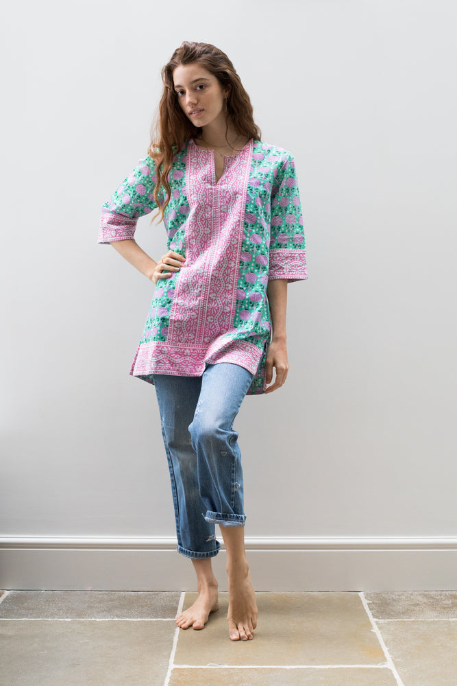 Short Kurta Mint Pineapple