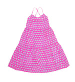 SZ Tier Dress in Hot Pink Bagru Stamp