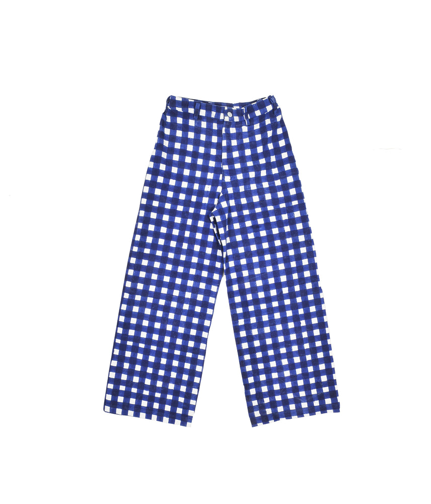 SZ Disco Pants in Blue Gingham