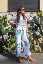 SZ Disco Pants in Hot Pink & Mint Palladio Flower Print