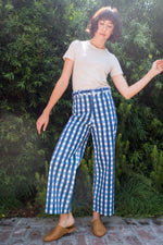 SZ Disco Pants in Picnic Table Blues