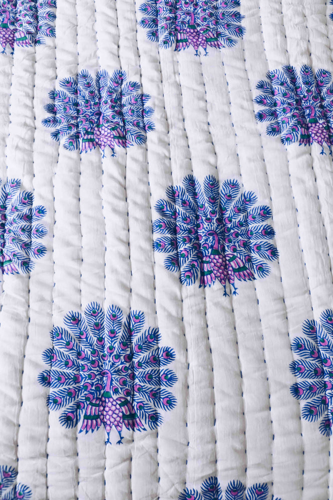 SZ Quilt in Peacock Print