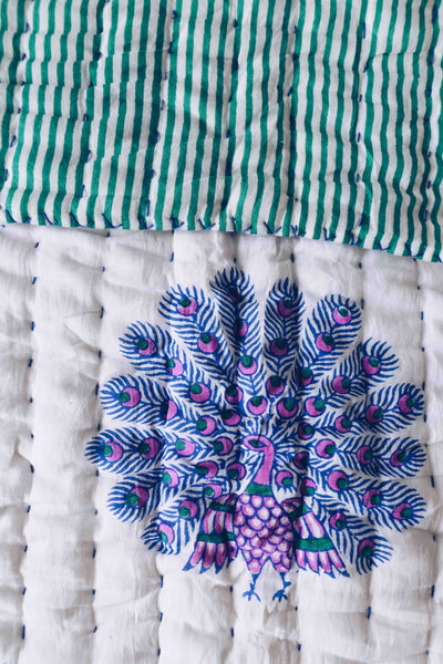 SZ Quilt in Peacock Print, Large