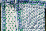 SZ Baby Quilt in Bagru Stamp in True Blue and Kelly Green