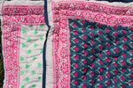 SZ Baby Quilt in Waterlily Print in Navy and Fuchsia