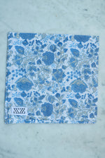 SZ Helping Hands Jaipur Napkins (set of 4) in Ivory and Sky Blue
