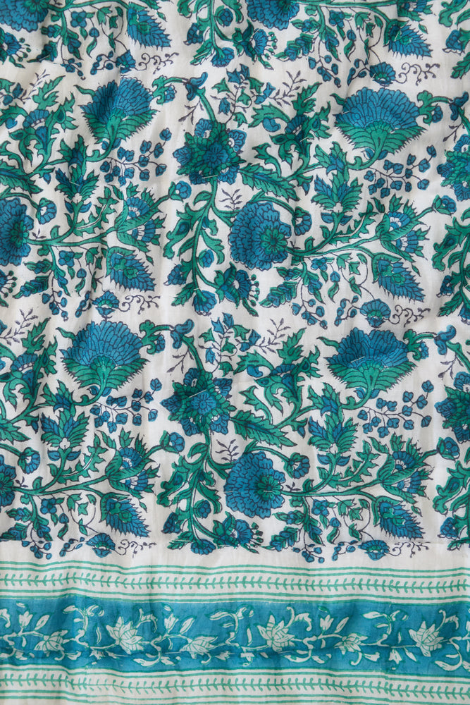 SZ Baby Quilt in Green & Blue Padra