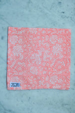 SZ Helping Hands Jaipur Napkins (set of 4) in Neon Papaya