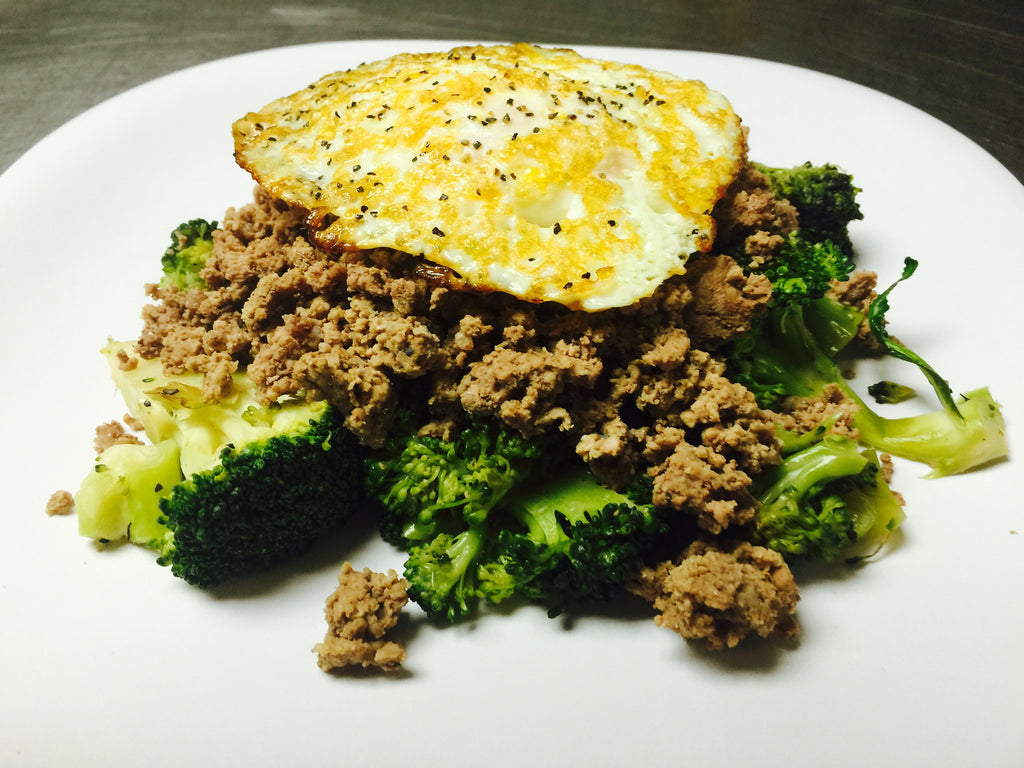 Beef & Broccoli Saute w/ Fried Egg