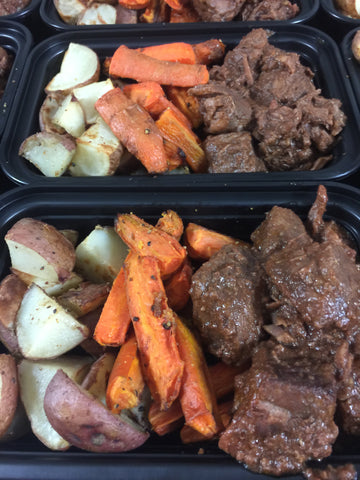 Braised Beef with Roasted Carrots & Potatoes