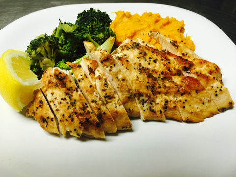 Grilled Lemon Chicken Dinner