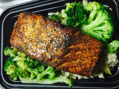 Seared Salmon & Broccoli