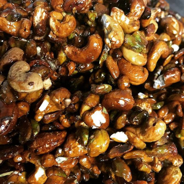 Sweet and Salty Cashews and Pistachios