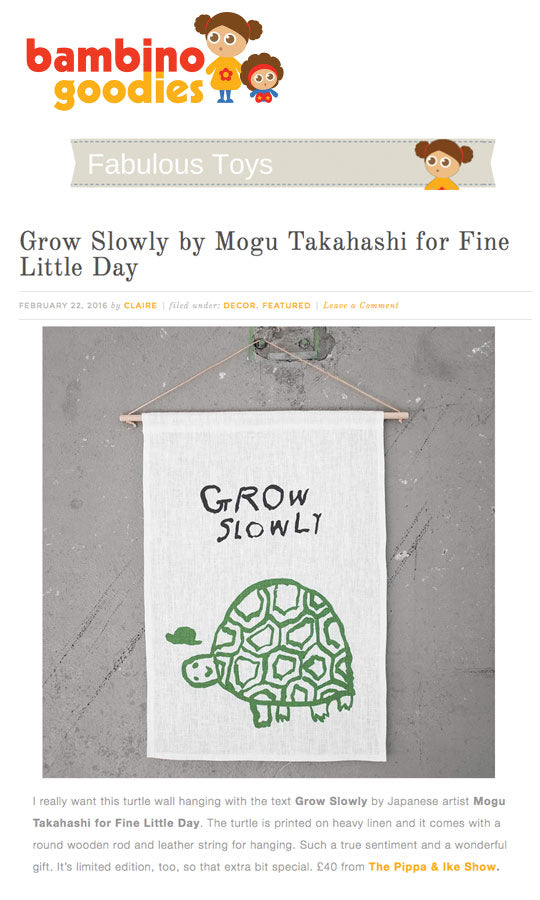 Mogu Takahashi limited edition wallhanging for Fine Little Day at The Pippa & Ike Show