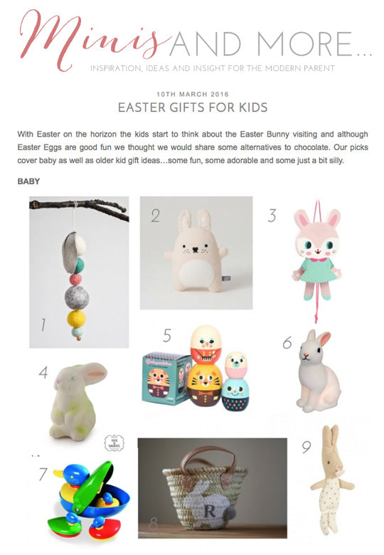 Easter gifts from The Pippa & Ike Show featured on Minis and More blog