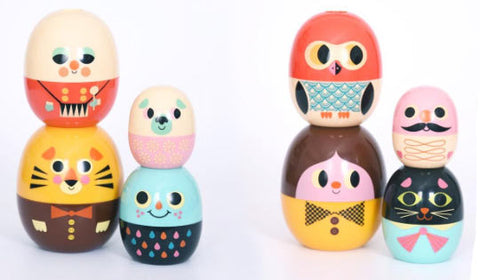 New Babyoshka stackable nesting dolls by Ingela P Arrhenius at The Pippa & Ike Show