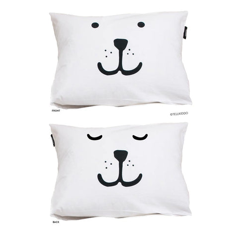 Bear Face pillow case by Tellkiddo