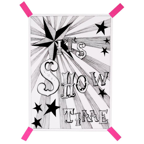 It's Showtime print by Naked Lunge for The Pippa & Ike Show