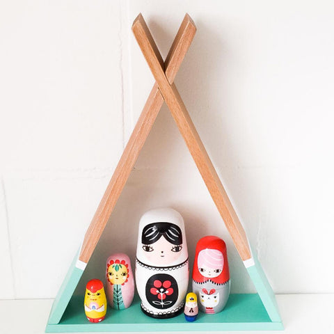 Tipi shelves for the kids bedrooms by Petit Monkey