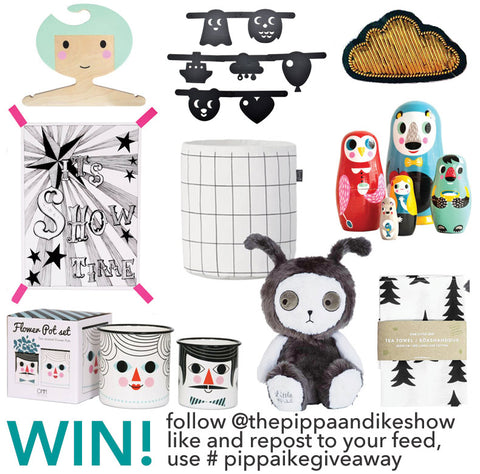 Win a fantastic goodie bag worth £160 , go to The Pippa & Ike Show Instagram feed for details