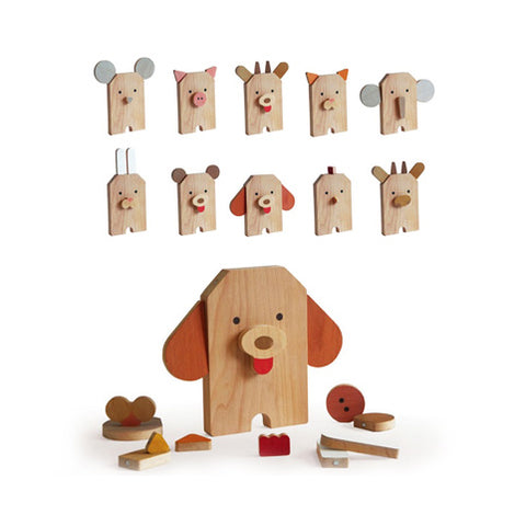 Zoo wooden toy by Russian toy brand Shusha