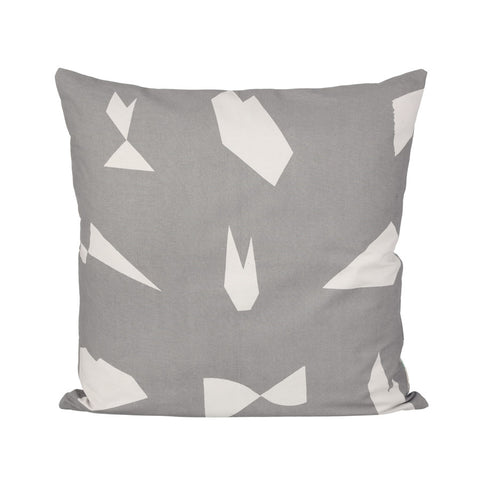 Cut cushion square, grey