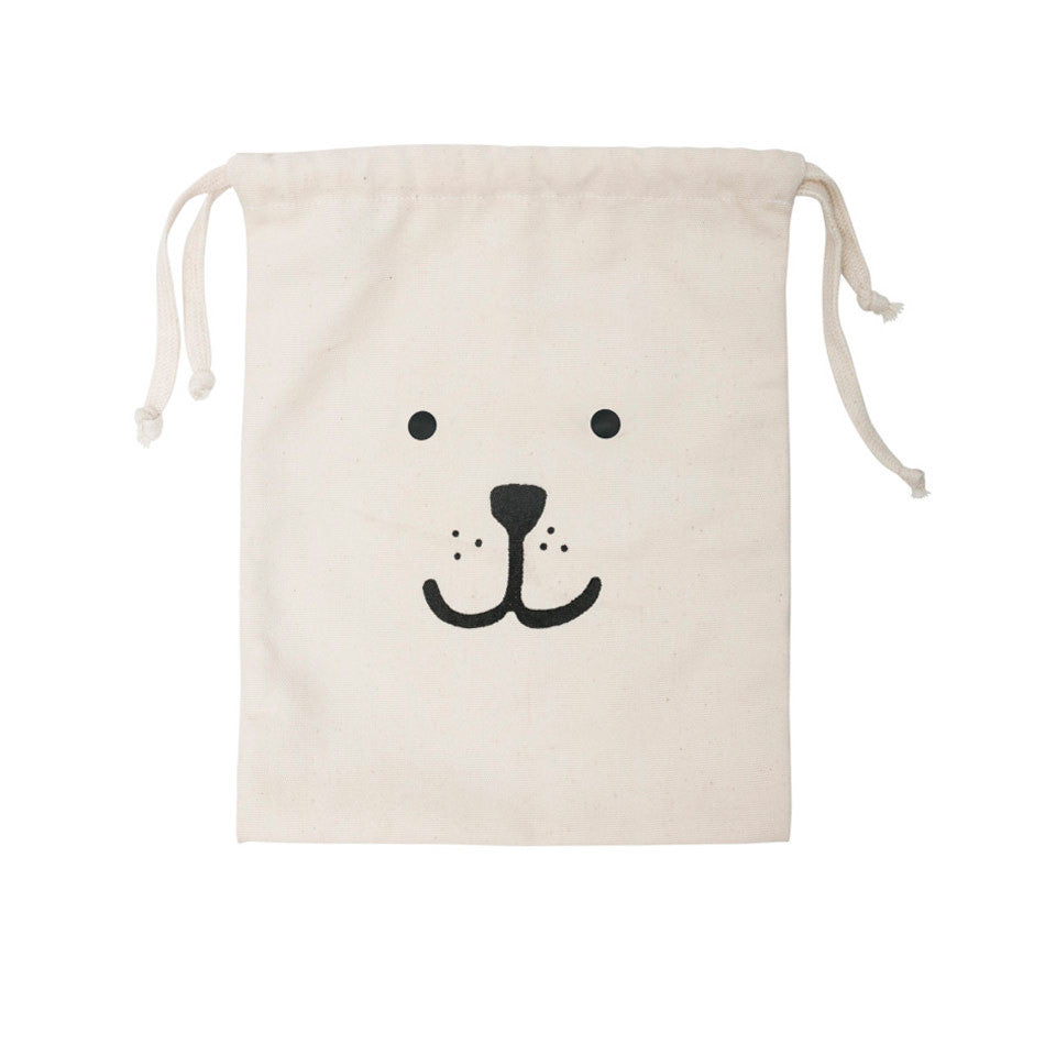 Small fabric storage bag Bear face by Tellkiddo