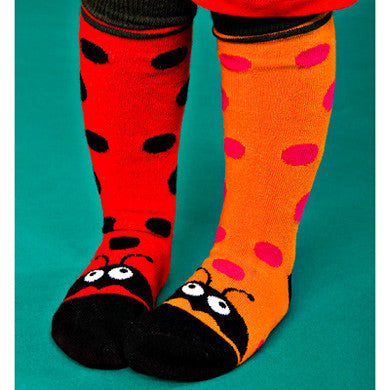 Ladybird socks, red or orange