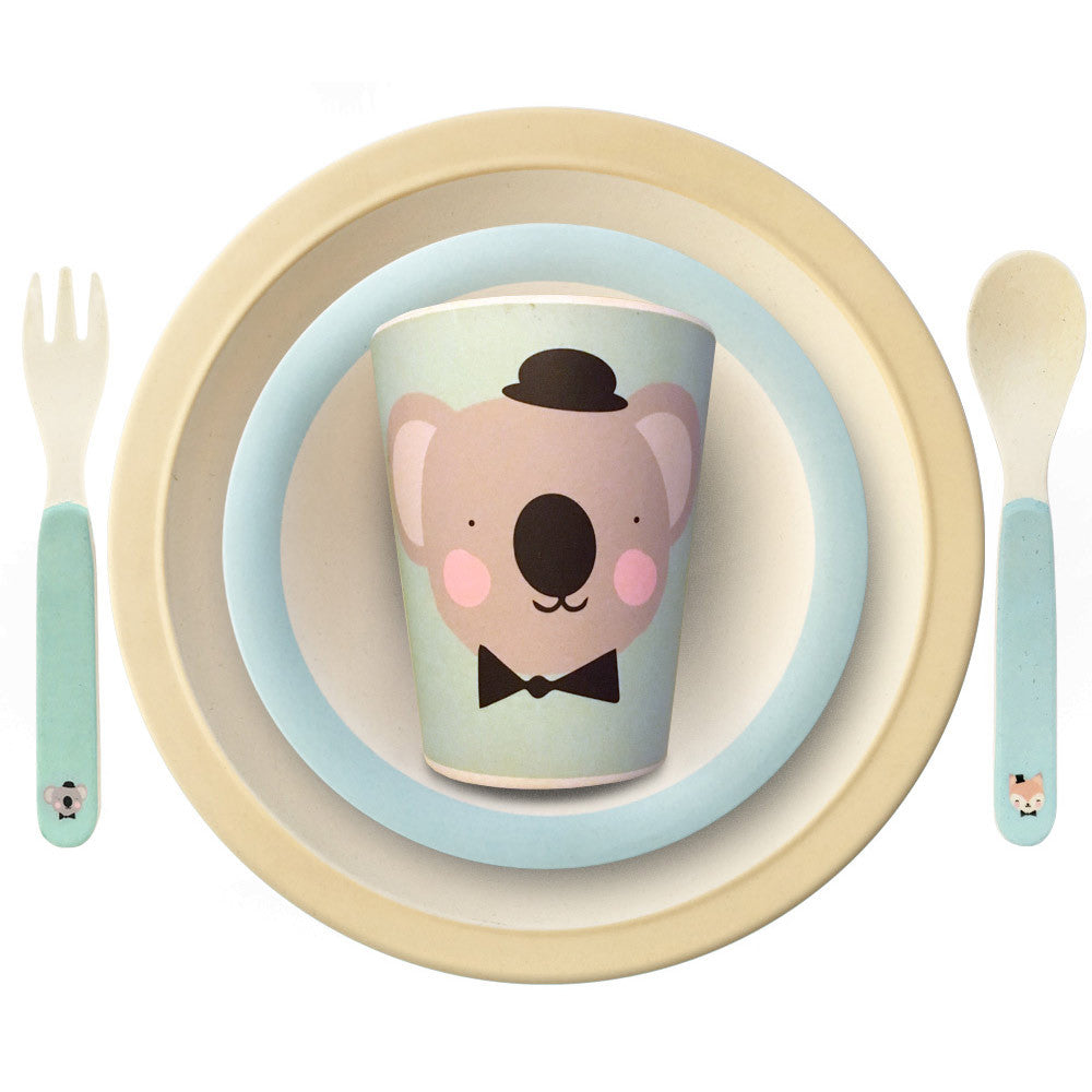 Bamboo tableware Lovely Animals for kids by Eef Lillemor