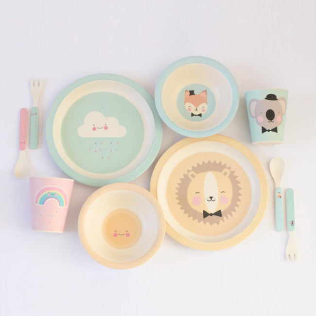 Bamboo tableware Lovely Animals and Lovely Weather for kids by Eef Lillemor & Bamboo plate Lovely Animals Friendly Lion - Eef Lillemor \u2013 The Pippa ...